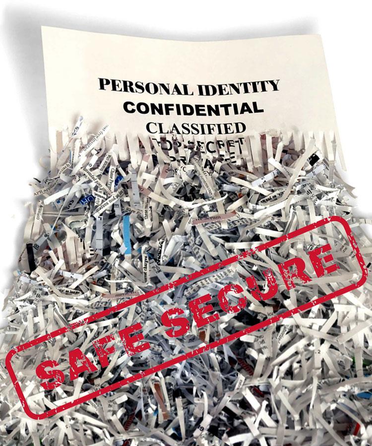 Safe and secure paper shredding